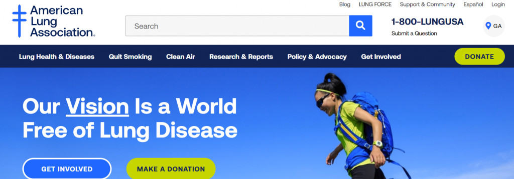 Pharma news: American lung association website with new branding